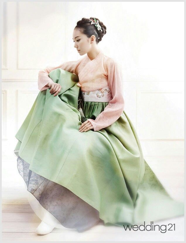 Modern hanbok. Not as elegant as the traditional hanbok... But still beautiful.