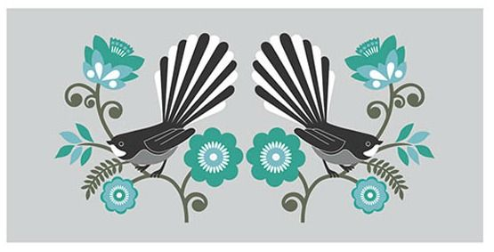 Look and Listen Fantail Print by Greg Straight