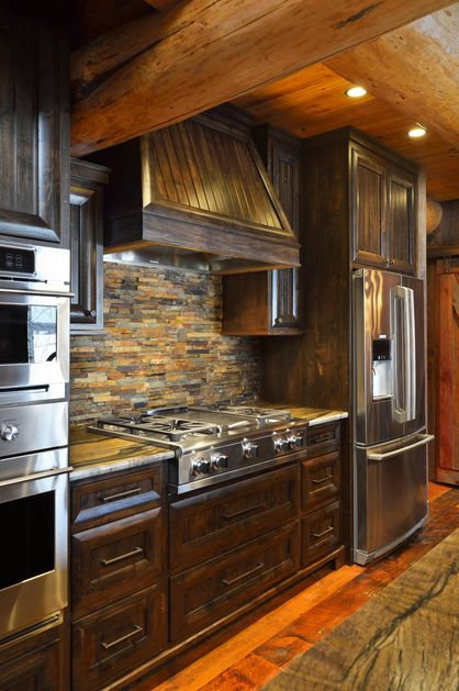 Copper Rust Slate In This Kitchen By Lake Custom Builders In Minnesota