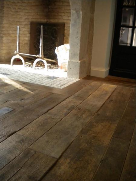 oude eiken plankenvloer