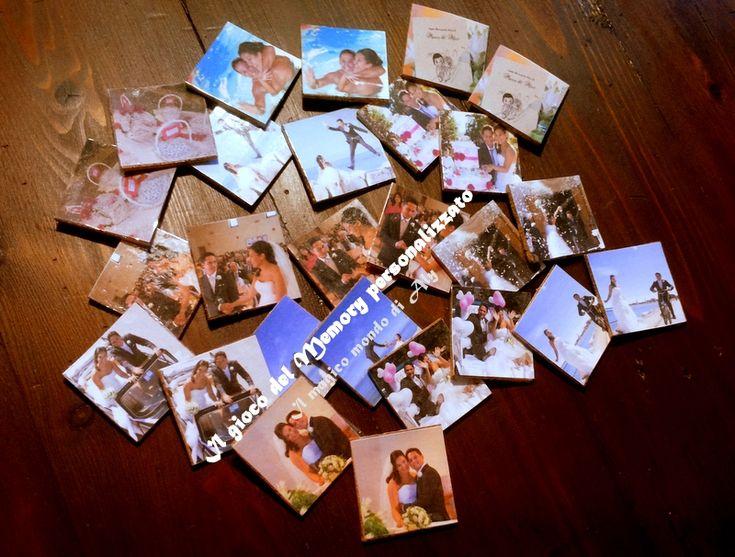 Il gioco del memory personalizzato è un'idea simpatica e semplice per far giocare il vostro compagno o figlio con le foto che li rappresenta.