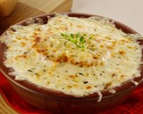 Onion Soup With Two Cheeses: Recipe