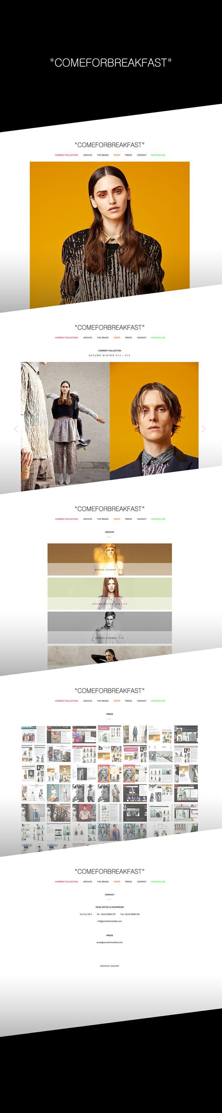 """comeforbreakfast"" / Web Design 2013  DESIGN BY HOUKART http://www.houkart.com #Design #Houkart #Web #Comeforbreakfast"