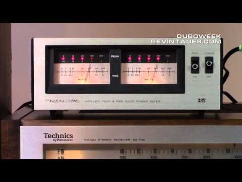 (3937) Realistic APM 200 Audio Power VU Meter - YouTube