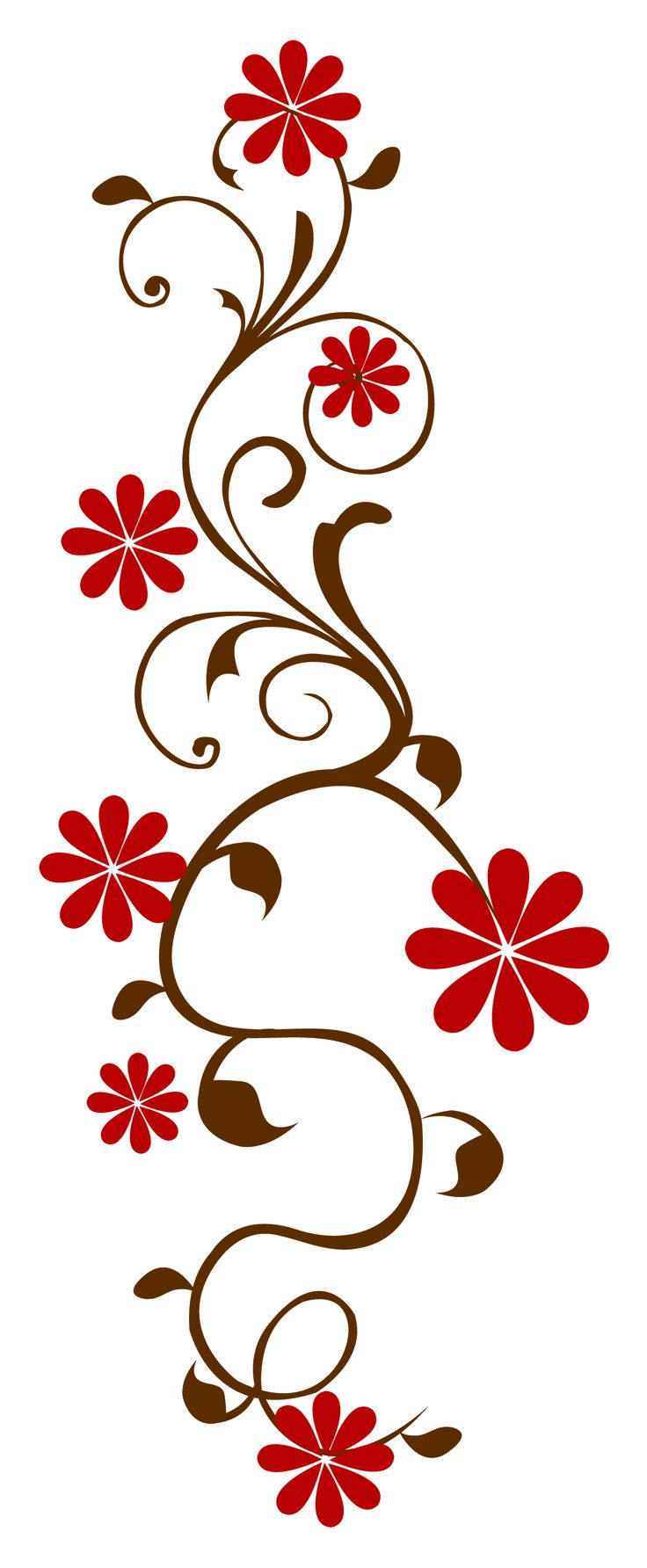 Window Film In Floral Pattern Red And Brown Reds And