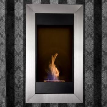 Wall mounted eco friendly fireplace ingenious want for Eco friendly fireplace