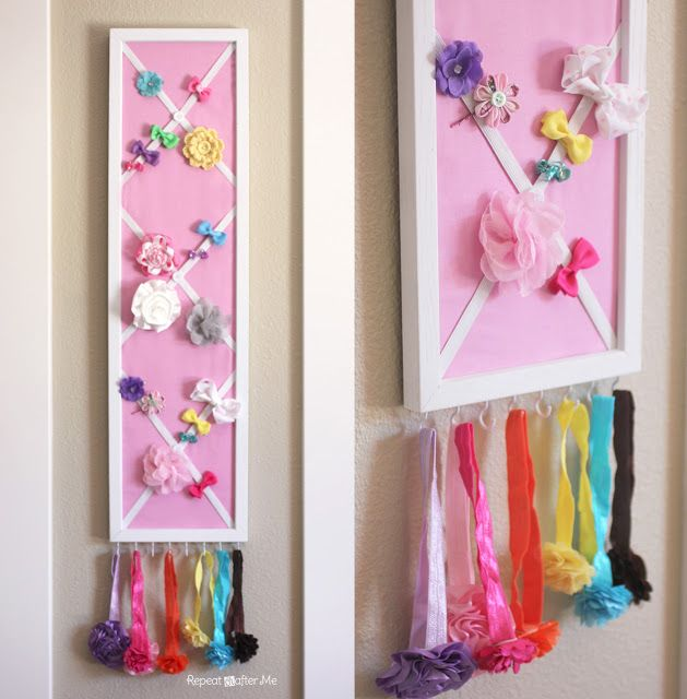 DIY Hair Bow Holder (or Message Board!)