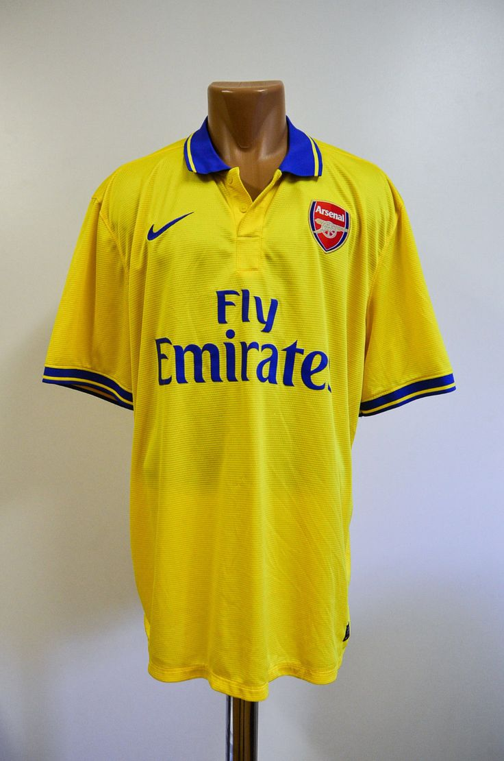 #Arsenal london 2013/2014 away football shirt #jersey #maglia nike ozil giroud er,  View more on the LINK: http://www.zeppy.io/product/gb/2/152290658705/