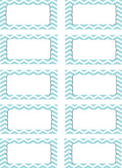 Printable labels blue