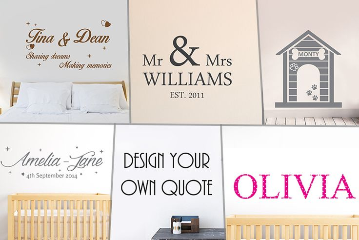 Personalised Wall Sticker - 25 Designs!