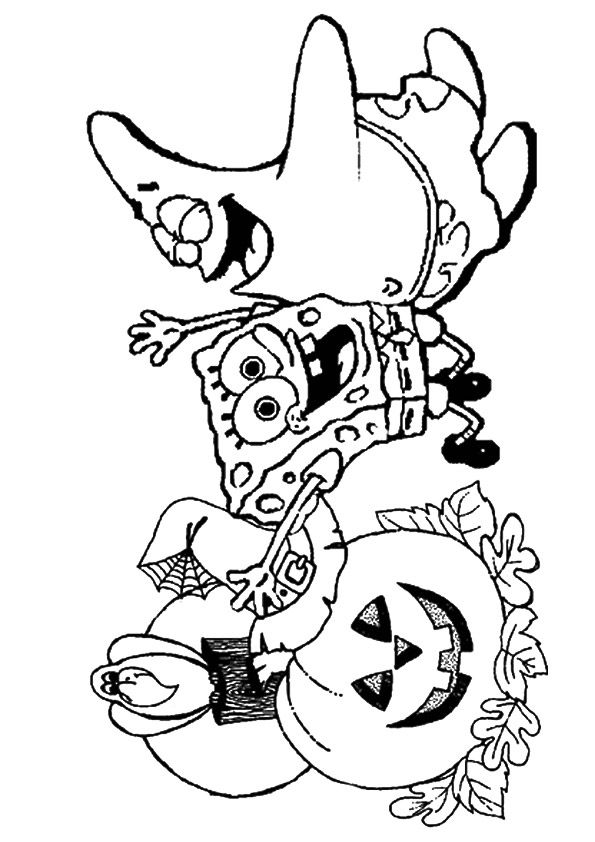 The Spongebob Happy Halloween Halloween Coloring Pages Disney Halloween Coloring Pages Halloween Coloring Pages Printable