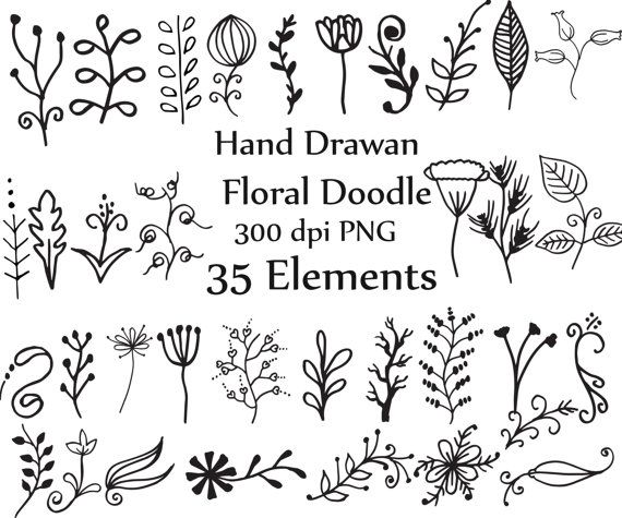 Doodle Flowers Clip art: DOODLE CLIPART Hand Drawn by ChiliPapers                                                                                                                                                                                 More