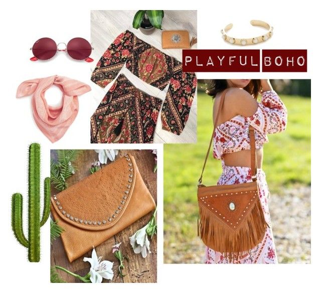 """Playful Boho"" by mahiyaleather on Polyvore featuring Ray-Ban, Madewell and Kate Spade"