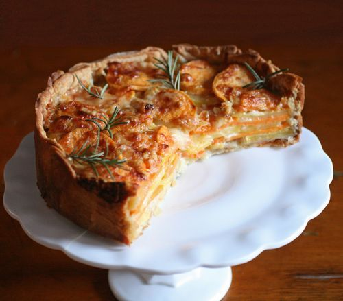 rosemary-crusted potato gratin