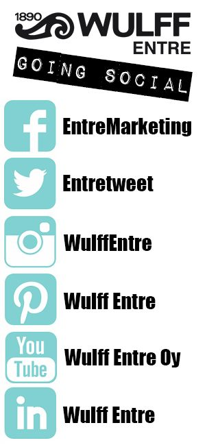 Wulff Entre going social! Find us on Twitter, Facebook, Instagram, Pinterest, YouTube and LinkedIn.