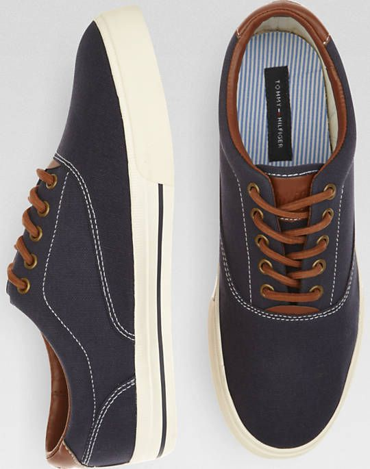 7131ae81970099 Navy canvas with brown leather accent. Tommy Hilfiger -  Paulie ...