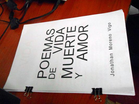 Poemas de Vida Muerte y Amor. Proyecto Literario de Jonathan Moreno Vigo.