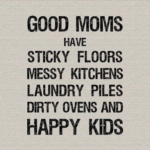 Messy Kitchen Quotes: Good Moms Have Sticky Floors, Messy Kitchens, Laundry
