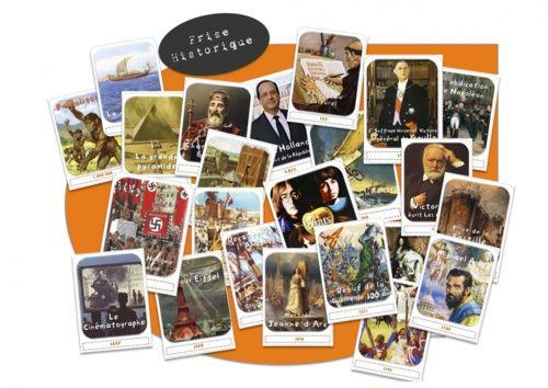 250 cartes pour la frise historique