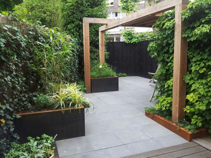 I like the idea of creating a journey on the terrace with different types of plants and seating to suit all tastes