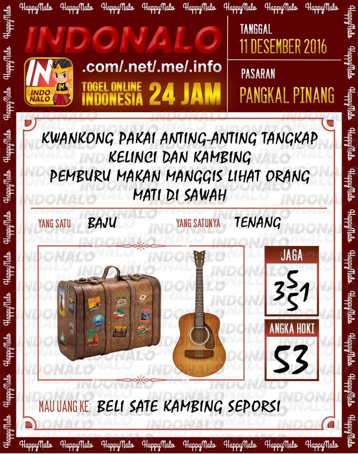Lotre Kop 4D Togel Wap Online Live Draw 4D Indonalo Pangkal Pinang 11 Desember 2016