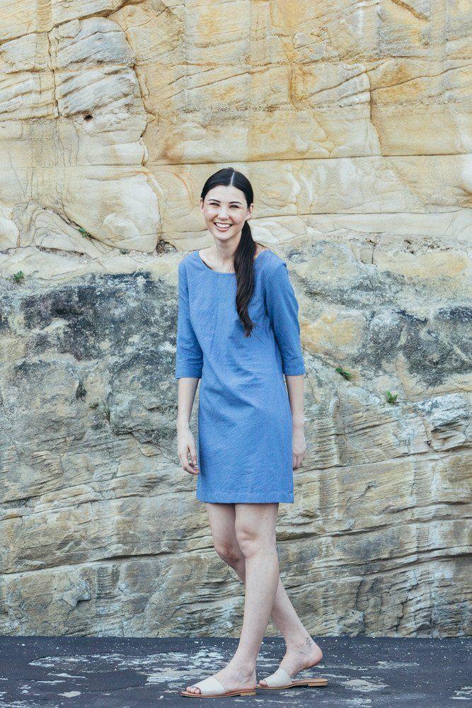 Atacama Dress - Oasis blue | Carlieballard