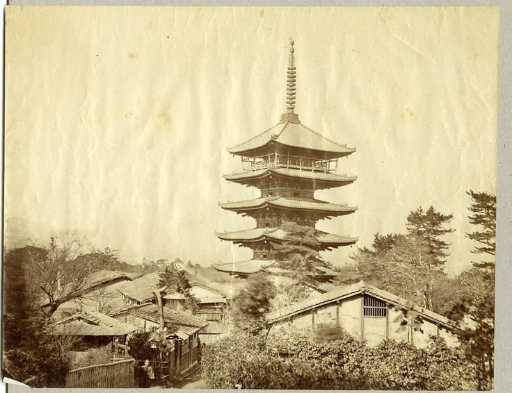 This picture is a real step back in time taken at some point in the late Meiji Period (late 1800s) by James St. Vincent 4th Baron de Saumarez.  While I cannot be certain the picture matches quite well that very popular shot of the Yasaka pagoda in Gion Kyoto.  James de Saumarez was a member of the British Diplomatic Corp in Japan and spent much of his time here exploring and was especially fascinated with Yezo what is now Hokkaido.  His cousin Sir Havilland de Sausmarez was a member of the…