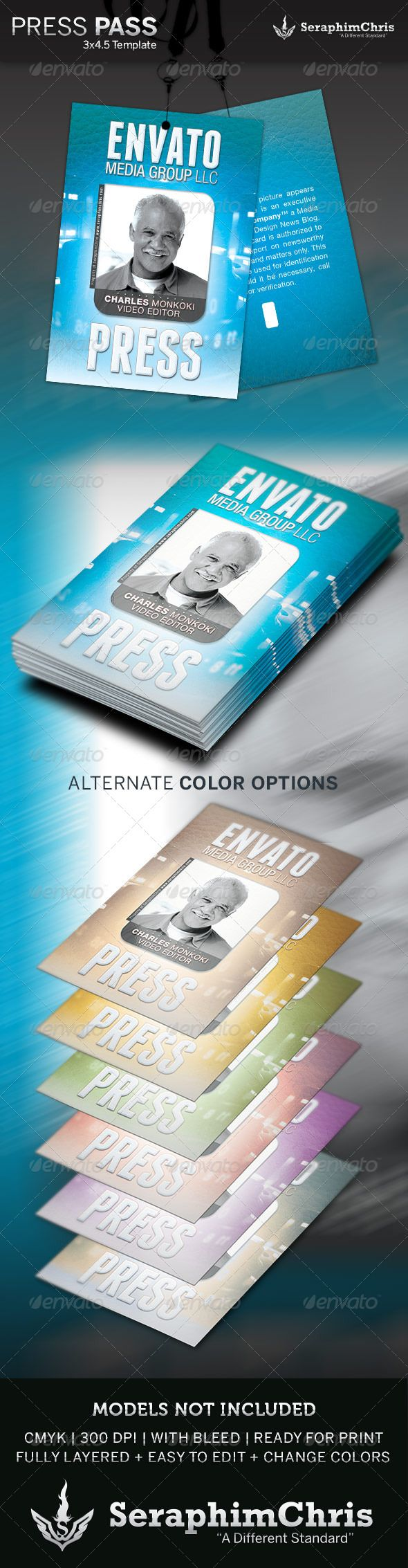 9 best Press Pass template images on Pinterest | Font logo, Print ...