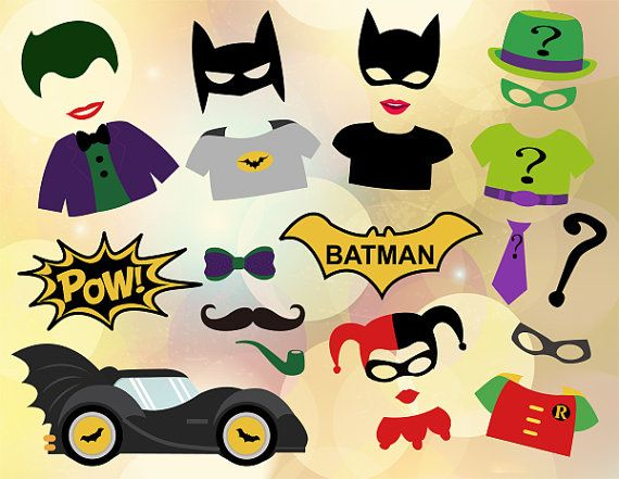 Instant Download Superhero Photo Booth Props by OneStopDigital