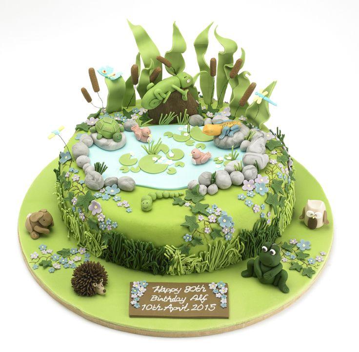Best 20 fondant rabbit ideas on pinterest for Garden theme cake designs