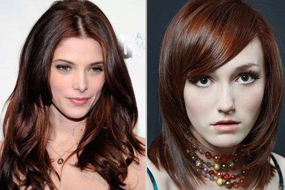 Шоколадный цвет волос и его оттенки — темный, молочный: фото