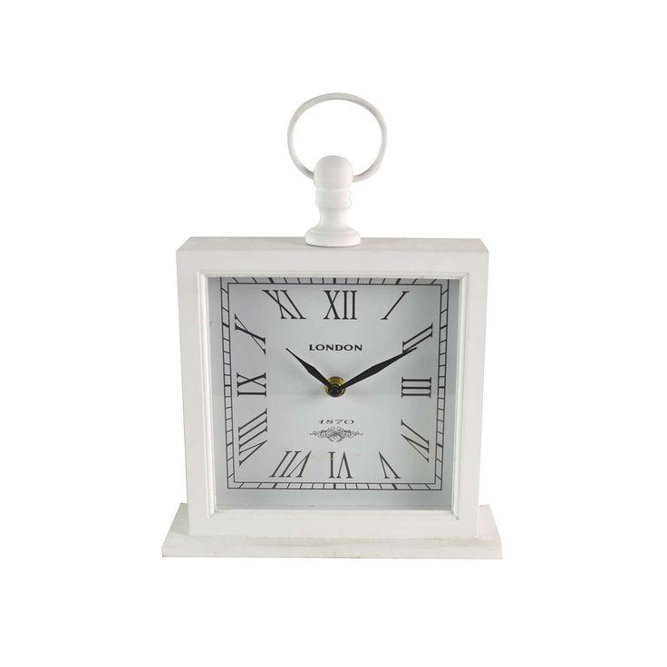 Large White Mantel Clock | Dunelm