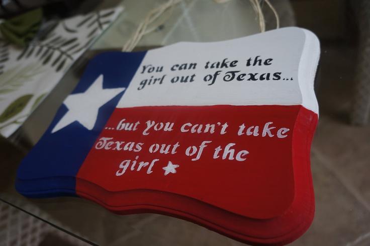 Texas Girl Sign. $15.00, via Etsy.