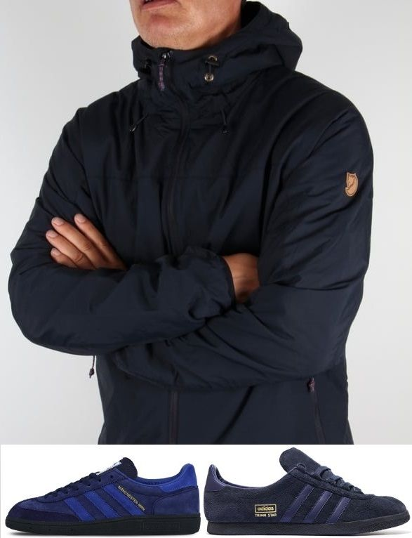 One of the most popular terracewear jackets recently - Fjallraven's High Coast padded windcheater - would you dare pair up with Manchester marines or even a pair of classic Navy Trimm Star's...:-)