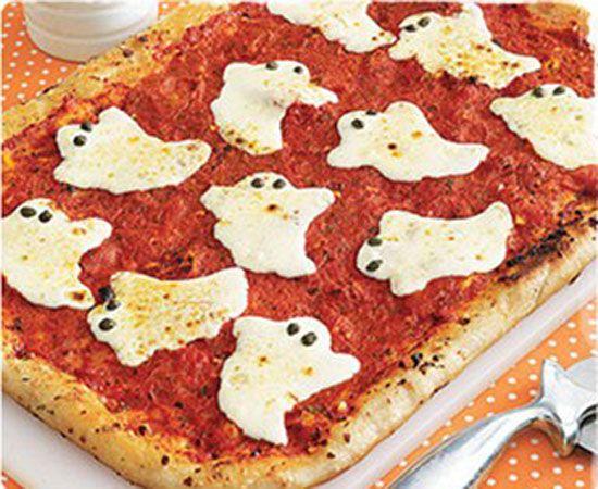 Receta de pizza fantasmal para Halloween | Recetas para niños