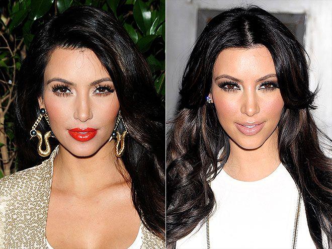 Makeup in the style of Kim Kardashian