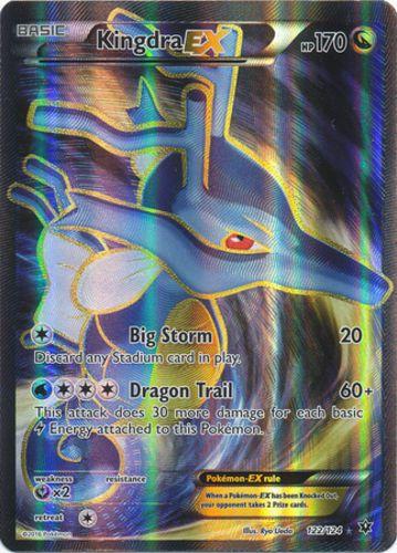 Pokemon Kingdra-EX  122/124  Full Art Ultra Rare NM-Mint English