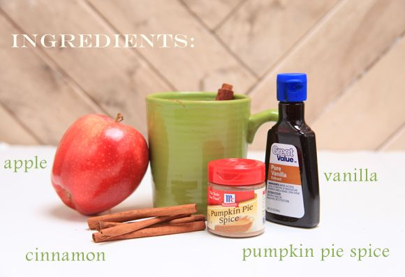 how to make your house smell like fall. yup.