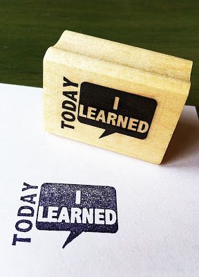 My students use this stamp to reflect on what they've learned that day.  They stamp in their notebooks, on an index card (and hand in as an exit ticket) or on a post-it to share with a classmate.  So many options....