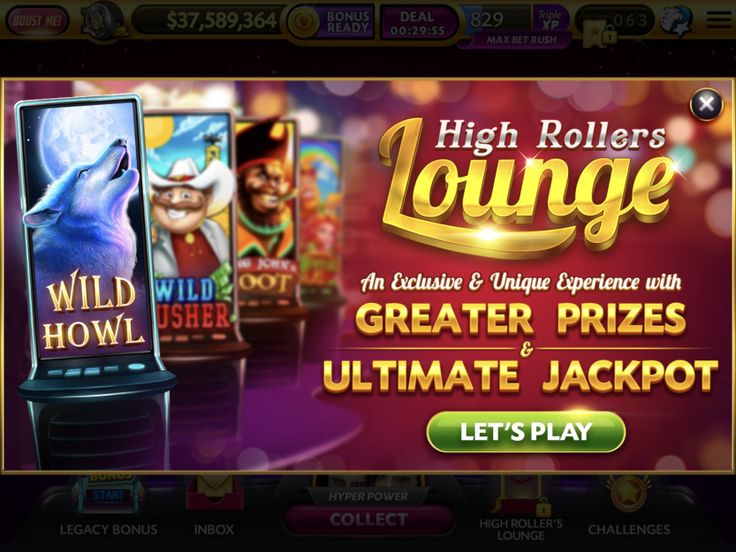 High rollers lounge caesars slots in 2020 high roller