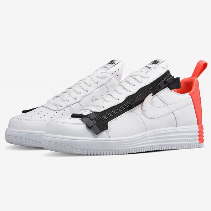 Find out all the latest information on the Acronym x NikeLAB Lunar Force 1  SP White Crimson, including release dates, prices and where to cop.