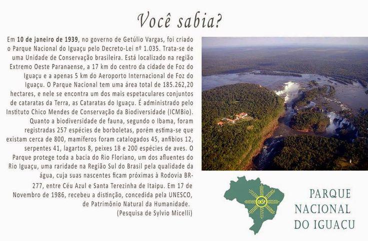 #CNSPNotícias - Você sabia? - 10 de janeiro de 2015 - O Parque Nacional do Iguaçu ~ Jornalista Sylvio Micelli