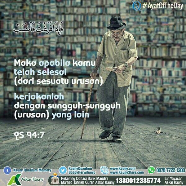#AyatOfTheDay - Mari jadi muslim yang produktif