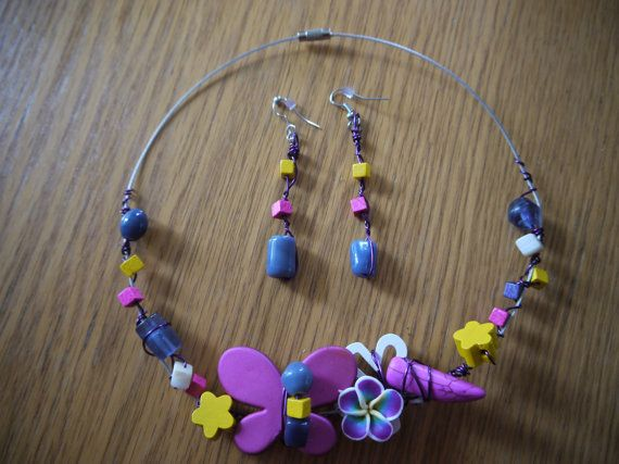 Necklace and earrings Candies by CreationsBella on Etsy, $32.00