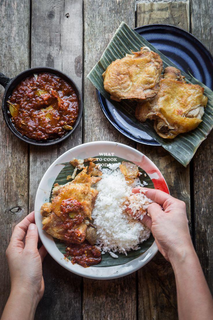 13 best images about malay cuisines on pinterest english popular smashed chicken ayam penyet forumfinder Choice Image