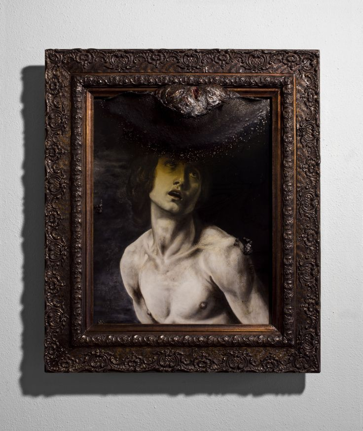 Lir Tasho, Goliath (or David's Doppelganger), 2015, oil painting and PMMA mounted on wood 58 x 68 cm (framed)
