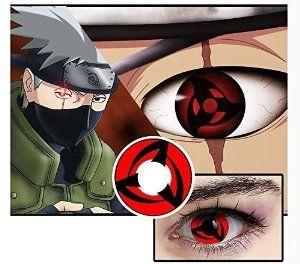 A Pair Naruto Uchiha Madara Itachi Sharingan Eyes Contact Lenses Halloween Cosplay Prop