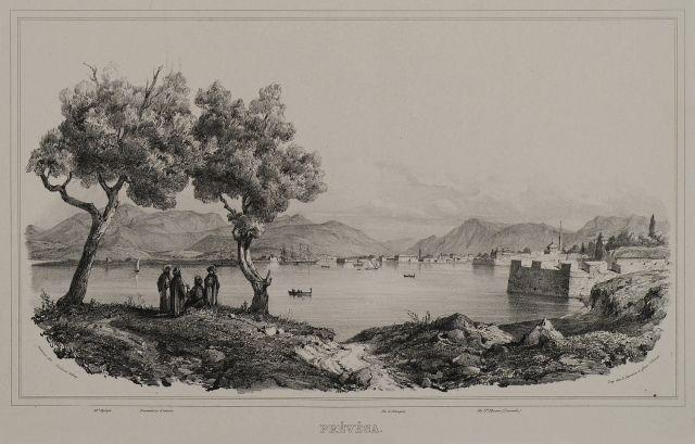 Άποψη της Πρέβεζας, Ήπειρος - STACKELBERG, Otto Magnus von - ME TO BΛΕΜΜΑ ΤΩΝ ΠΕΡΙΗΓΗΤΩΝ - Τόποι - Μνημεία - Άνθρωποι - Νοτιοανατολική Ευρώπη - Ανατολική Μεσόγειος - Ελλάδα - Μικρά Ασία - Νότιος Ιταλία, 15ος - 20ός αιώνας