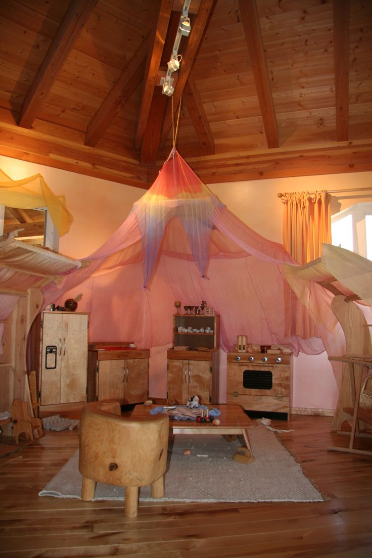 Rose Play Canopy from Sarah's Silks. www.bellalunatoys.com: Children Deserve, Adorable Playrooms, Waldorf Education, Antroposofisch Kinderopvang, Beautiful, Playrooms Inspiration, Waldorf Classroom, Beauty, Canopies