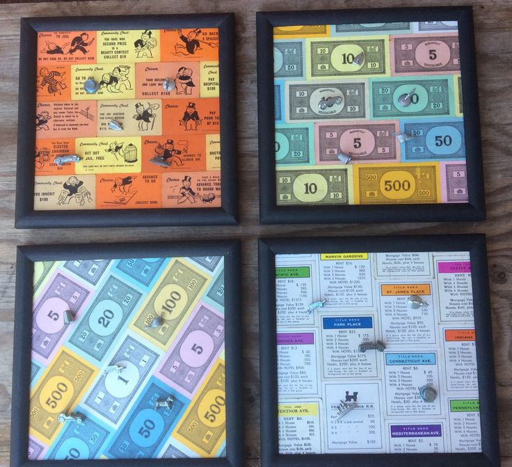 Magnetic memo boards made from vintage board game pieces. #vintage #antique #repurpose #reuse #decor #organize